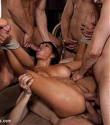 bound gangbangs rough bondage group sex scenarios