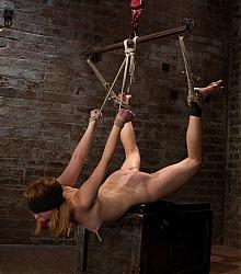 hogtied heavy bondage captive women forced orgasm