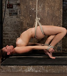 hogtied heavy bondage captive women forced orgasm