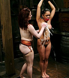 women in peril water bondage bdsm wet shibari